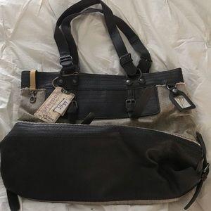 Sherpani burlap bag 17x14